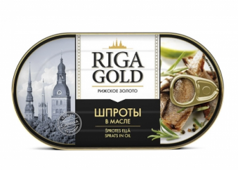 Šprotes eļļā Riga gold
