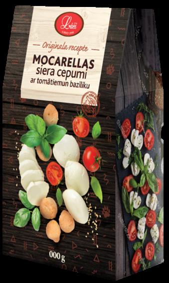Mocarellas siera cepumi ar tomātiem un baziliku