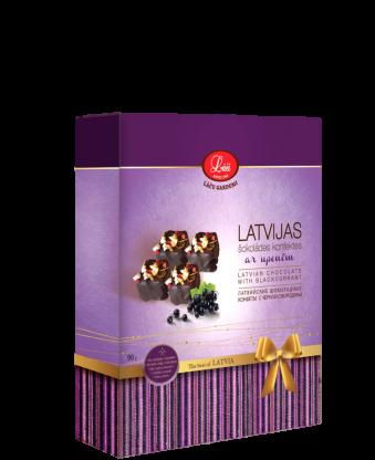 Latvijas šokolādes konfektes ar upenēm