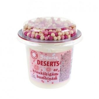Deserts ar rozā bumbiņām