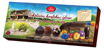 Selection of chocolate candies with real Lāči rye bread crumbs