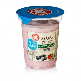 Mājas jogurts ar meža ogām, 0,1%