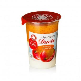 """Mājas deserts """"Duets"""" ar saputotu mango"""