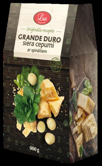 Grande duro siera cepumi ar spinātiem