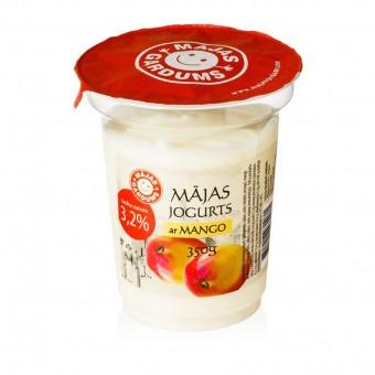 Mājas jogurts ar mango, 3,2%