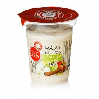 Mājas jogurts ar āboliem un kanēli, 3,2%