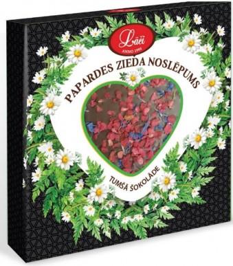 """Tumšā šokolādes sirsniņa """"Papardes zieda noslēpums"""""""