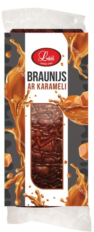 Brownie with caramel