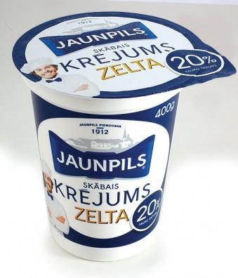 Jaunpils Skābais Krējums 20%
