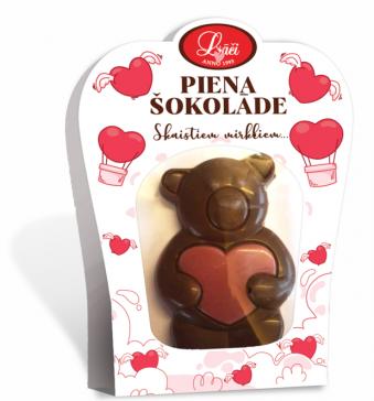 Šokolādes lācītis ar Ruby sirsniņu
