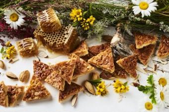 Medus mandeļu trijstūrīšu cepumi