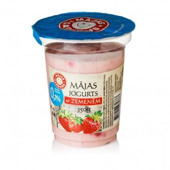 Mājas jogurts ar zemenēm 0,1%