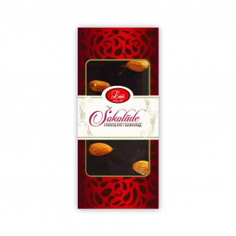 Dark chocolate with cherries and almonds