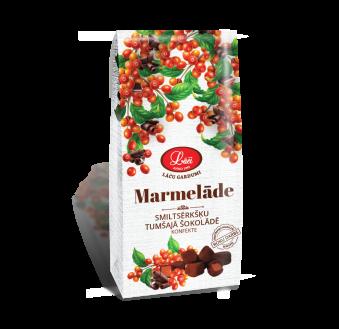 Smiltsērkšķu marmelāde tumšajā šokolādē